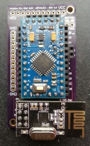 Figure 3: Board with nRF24L01+ moudule and Arduino